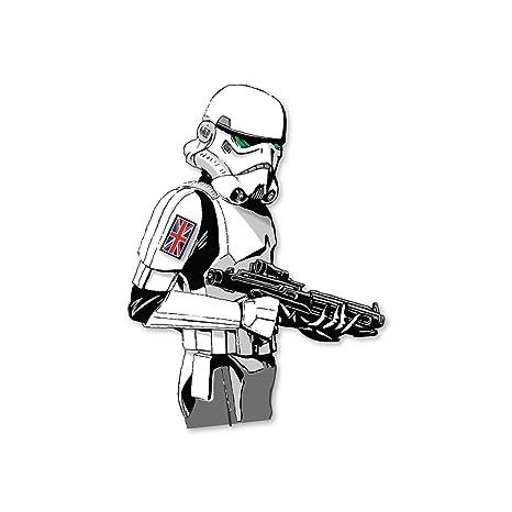 decorsfuk.co Adhesivo de Star Wars Stormtrooper con Bandera británica, para MacBook, de