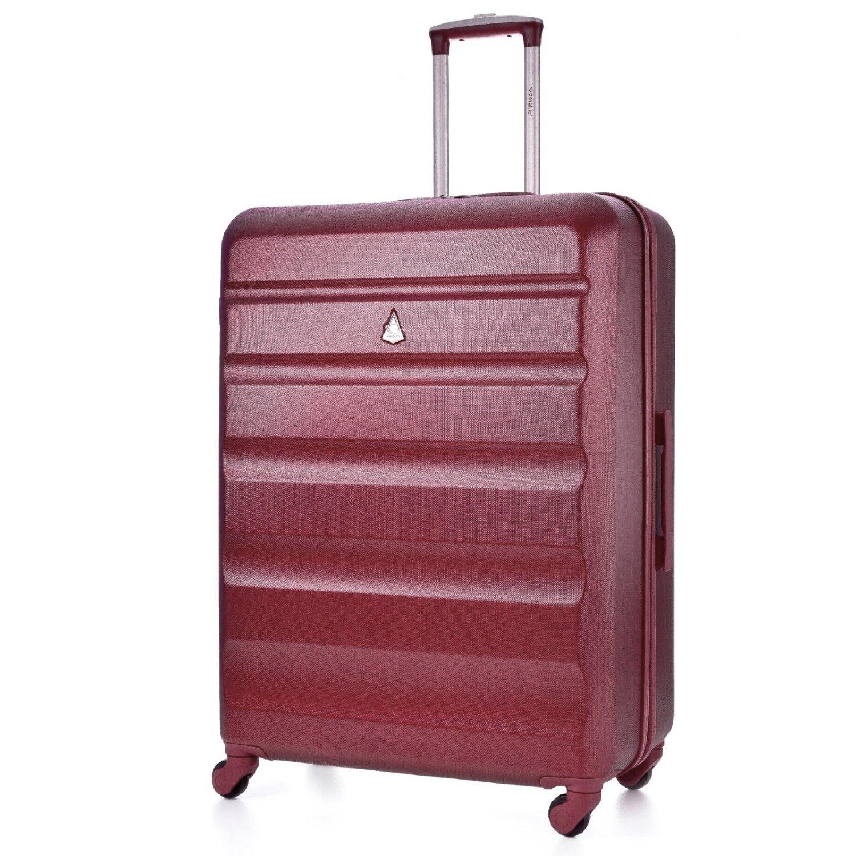 Aerolite ABS Equipaje Maleta rígida Ligera con 4 Ruedas, Grande 79cm, Vino Rojo: Amazon.es: Equipaje