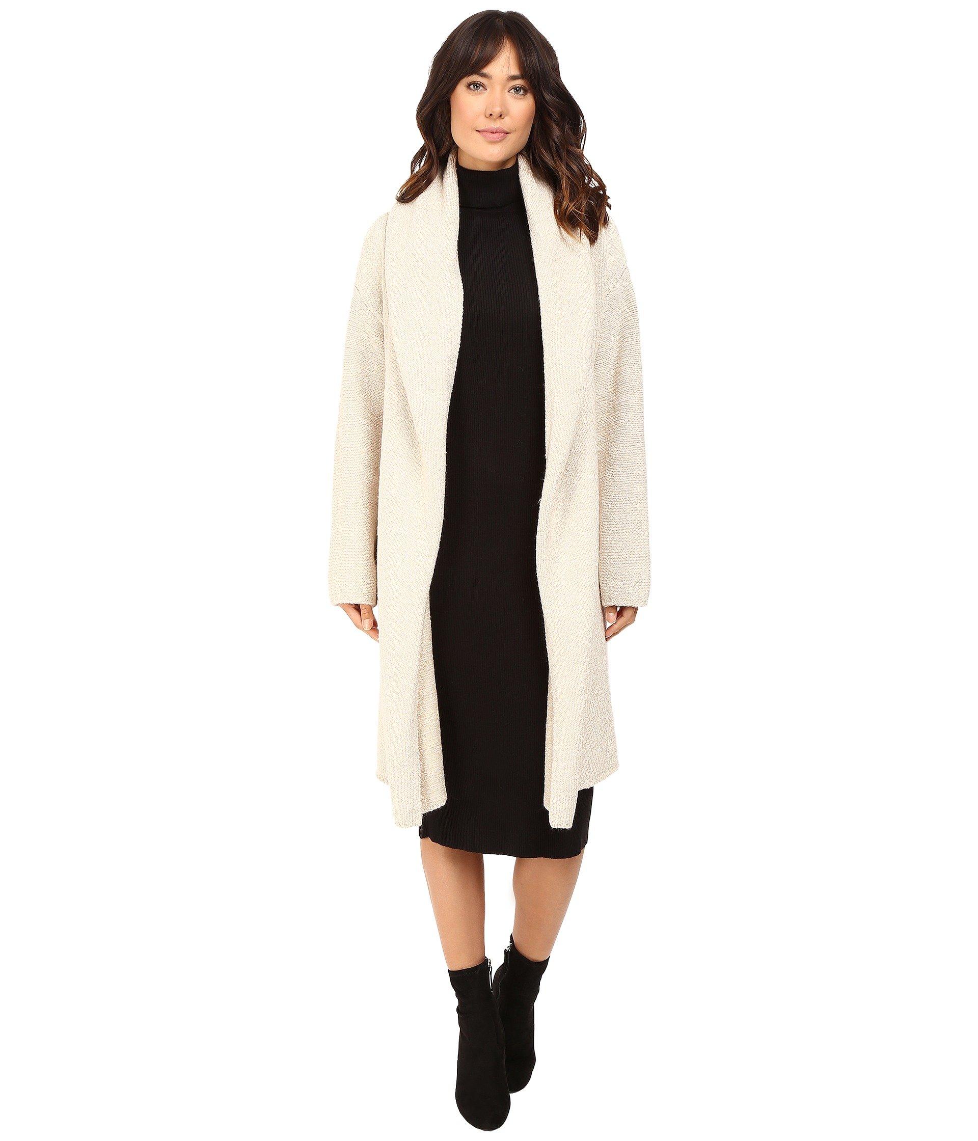 Brigitte Bailey Women's Luscious Car Coat Heather Vanilla Sweater One Size