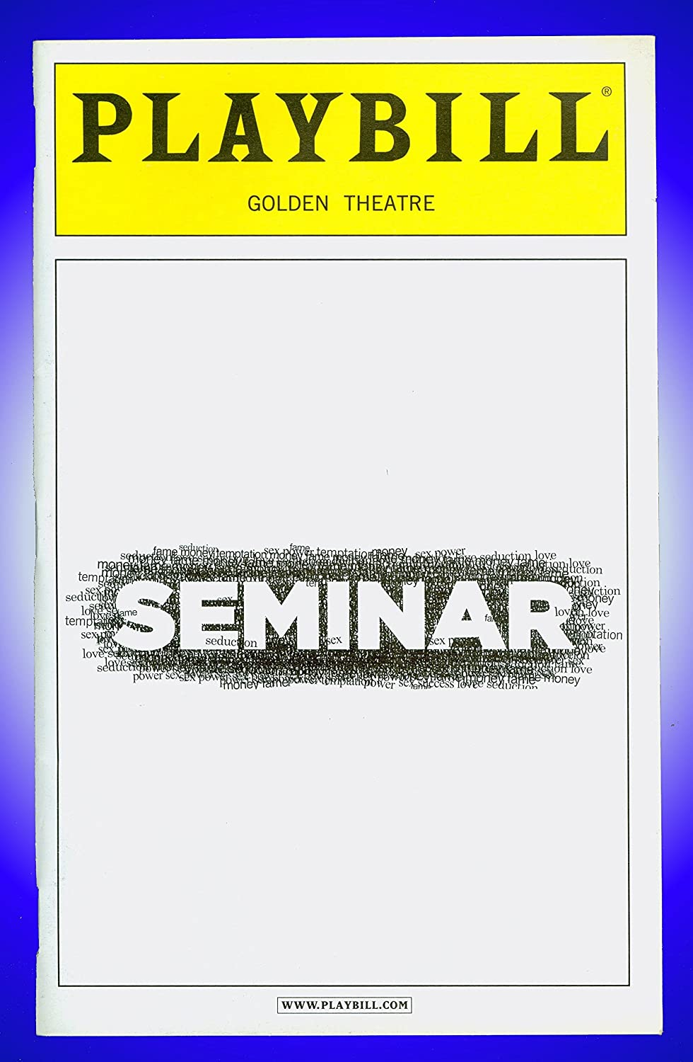 Seminar, Black and white Broadway playbill + Alan Rickman, Jerry O'Connell, Hettienne Park, Lily Rabe Jerry O' Connell Hamish Linklater Lily Rabe Theresa Rebeck
