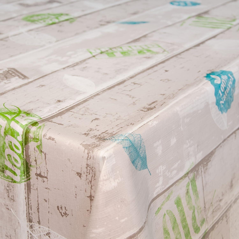 Tovaglia in tela cerata, lavabile, in stile industriale, plastificata, asciugamani, Sättige, Beständige Farben, Rund 100cm ANRO E03220