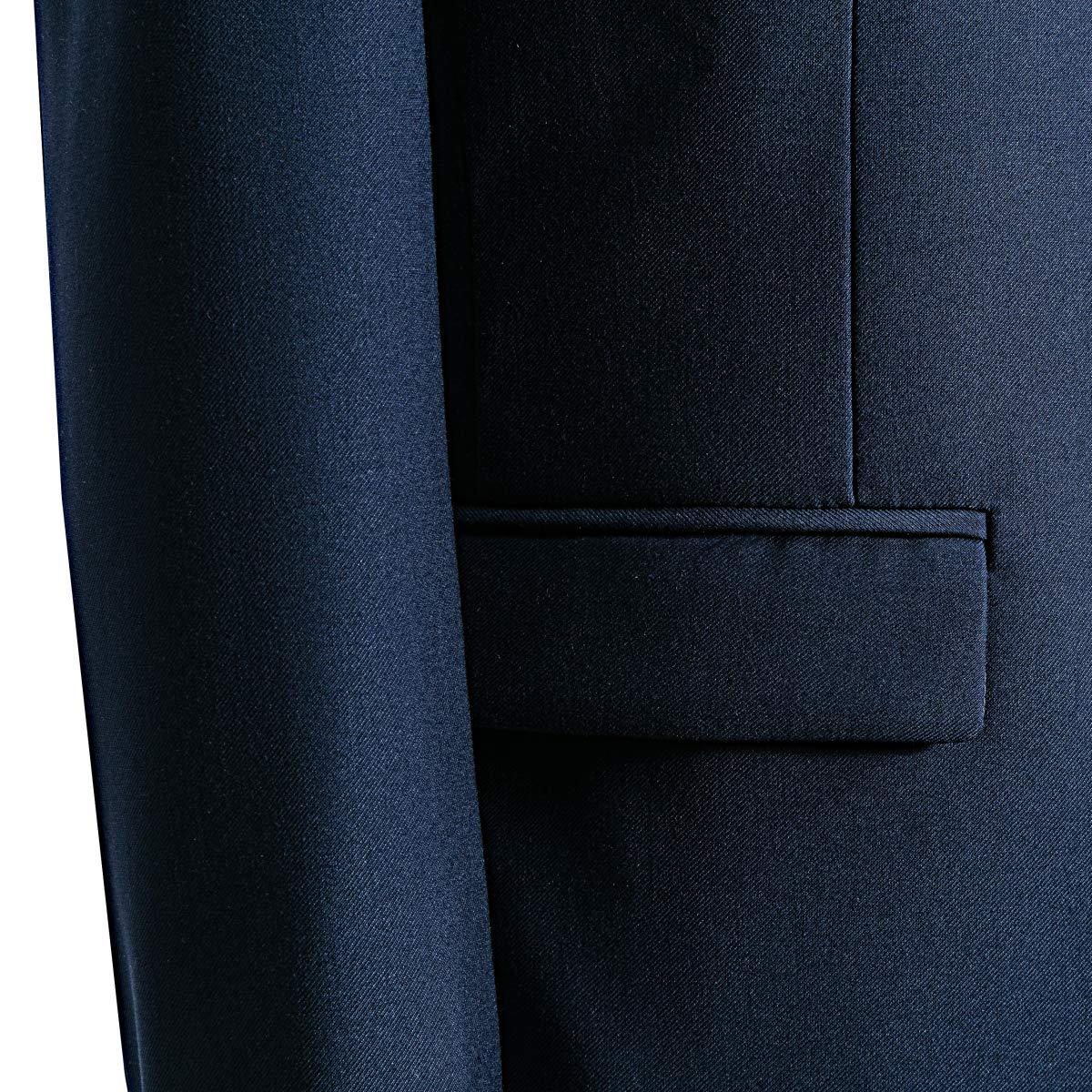 MAGE MALE Mens 3 Pieces Suit Elegant Solid Two Button Slim Fit Single Breasted Party Blazer Vest Pants Set