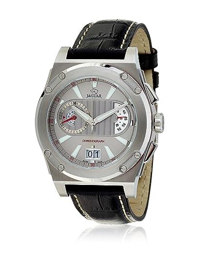 Jaguar J612/2 - Reloj con Correa de Caucho para Hombre, Color Plateado/