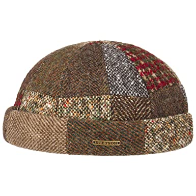 9c805f869ab Stetson Patchwork Wool Docker Hat Cap Beanie (L XL (58-61 cm) - Brown)   Amazon.co.uk  Clothing