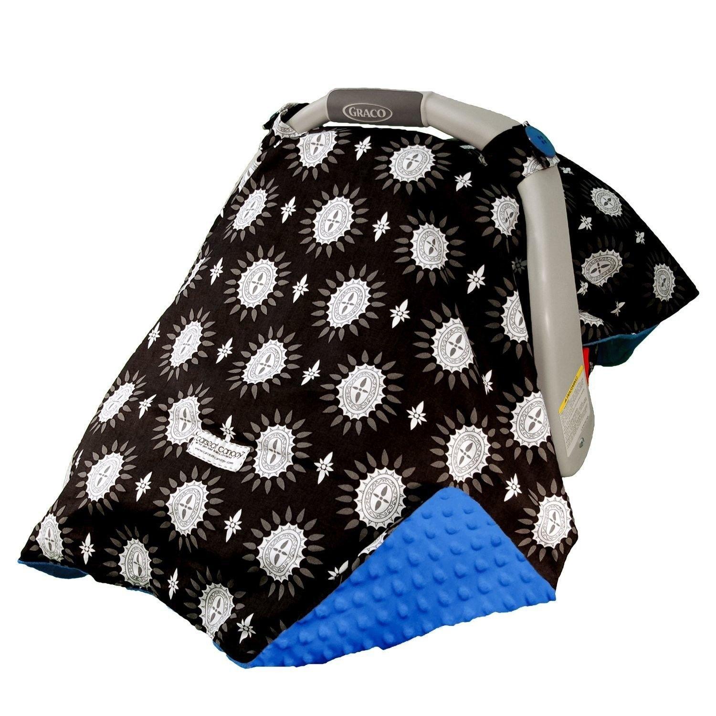 Mothers Lounge Carseat Canopy Maddox Minky Plush Dot