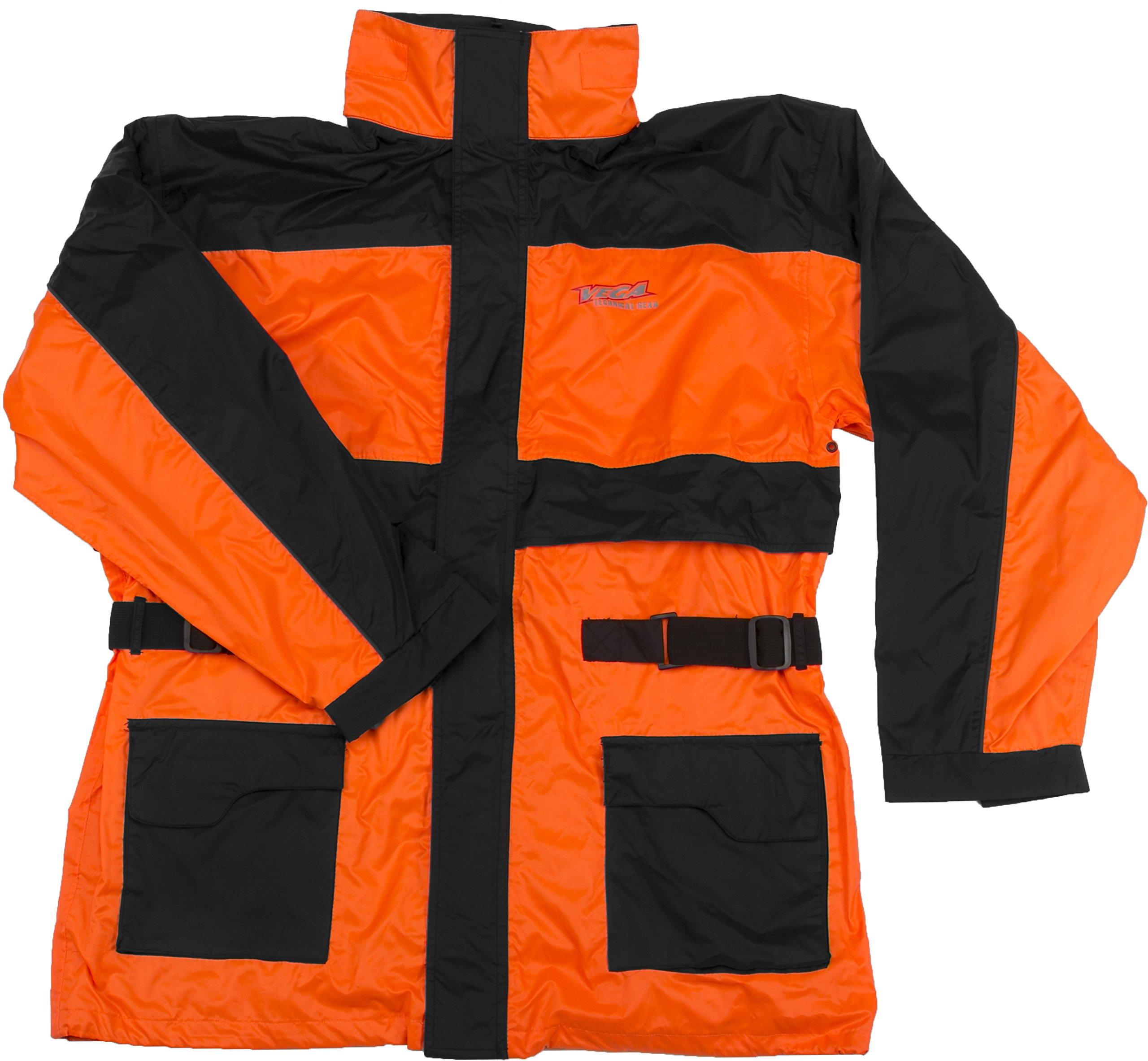 Vega Technical Gear Rain Jacket (Optic Orange, X-Large)