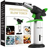 Spicy Dew Blow Torch - Creme Brulee Torch - Refillable Professional Chefs Culinary Kitchen Torch with Safety Lock and…