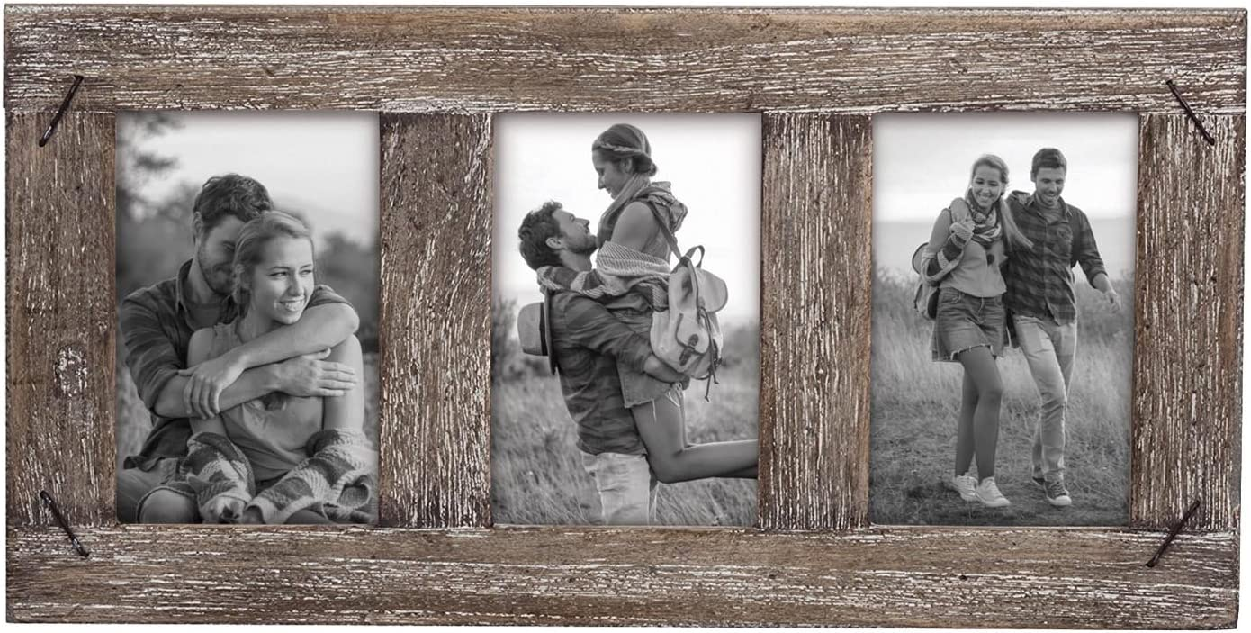 Foreside Home & Garden FFRD06201 4X6 Three Photo Weathered Frame