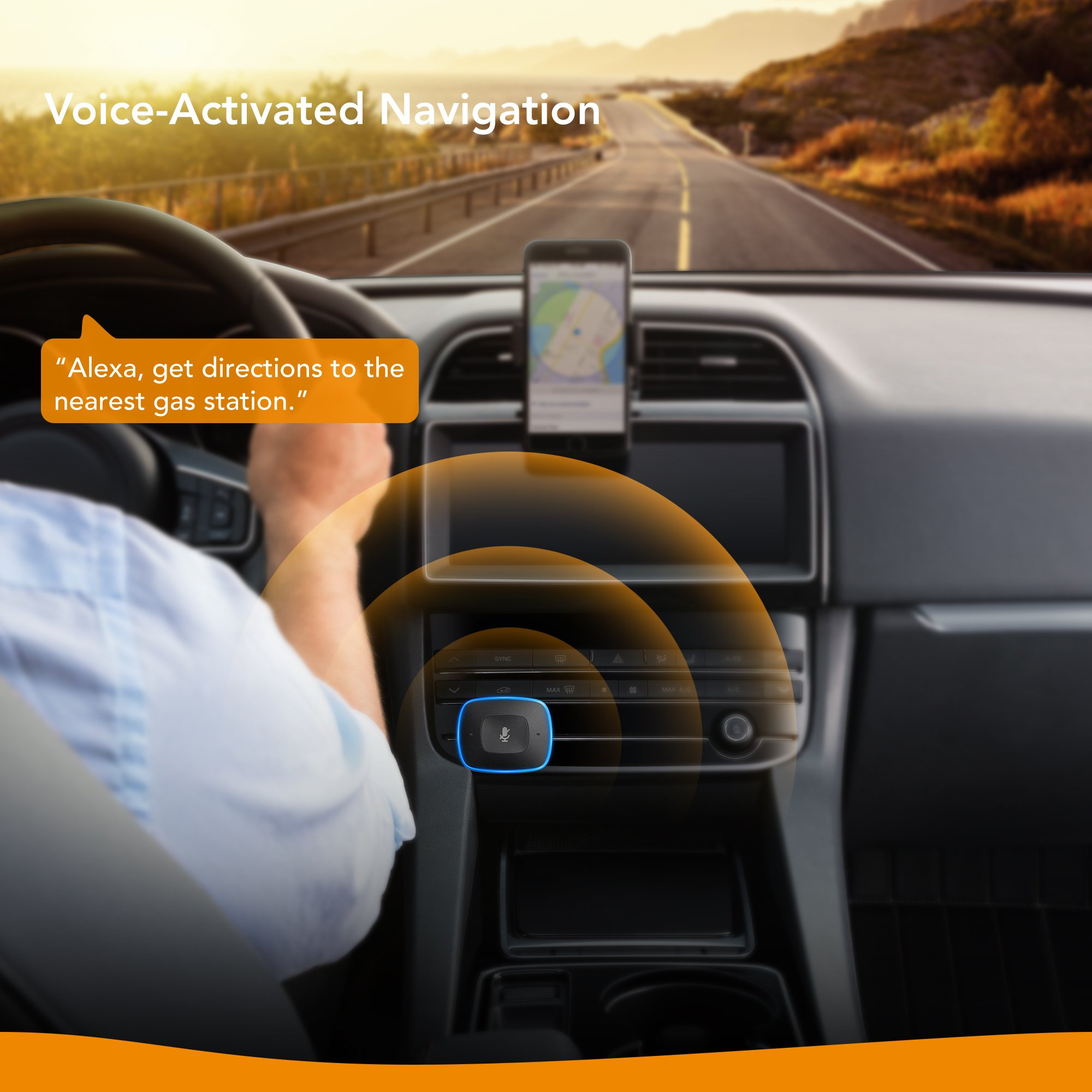 Roav VIVA by Anker, Alexa-Enabled 2-Port USB Car Charger in-Car Navigation, Voice Initiated Calling, and Music Streaming. Compatible with Android and iOS Smart Devices by ROAV (Image #3)