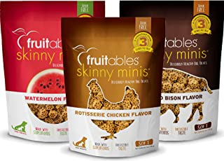 product image for Fruitables Soft and Chewy 5 Ounce Skinny Minis Low Calorie Grain Free Dog Treat Variety 3 Packs