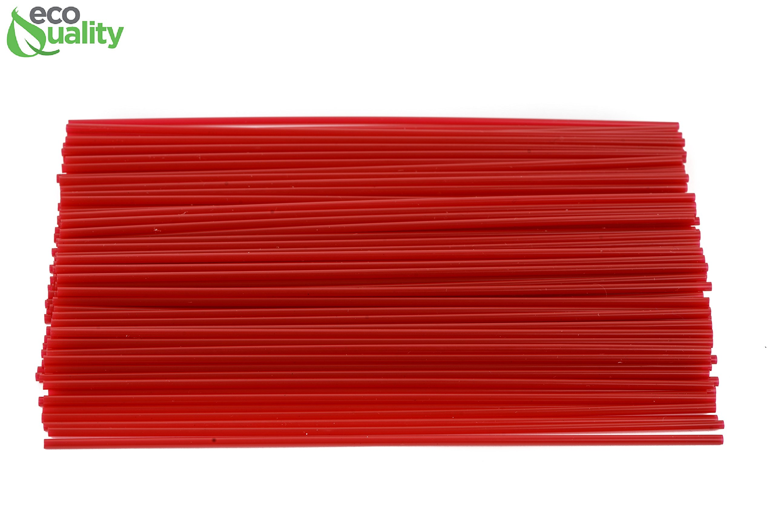 6000 Count Plastic Stirrer 8inch, Sip Stirrer, Sip Straw, For Coffee, Cocktail, Latte and Tea - 8 Inches, 1000/Box, Red