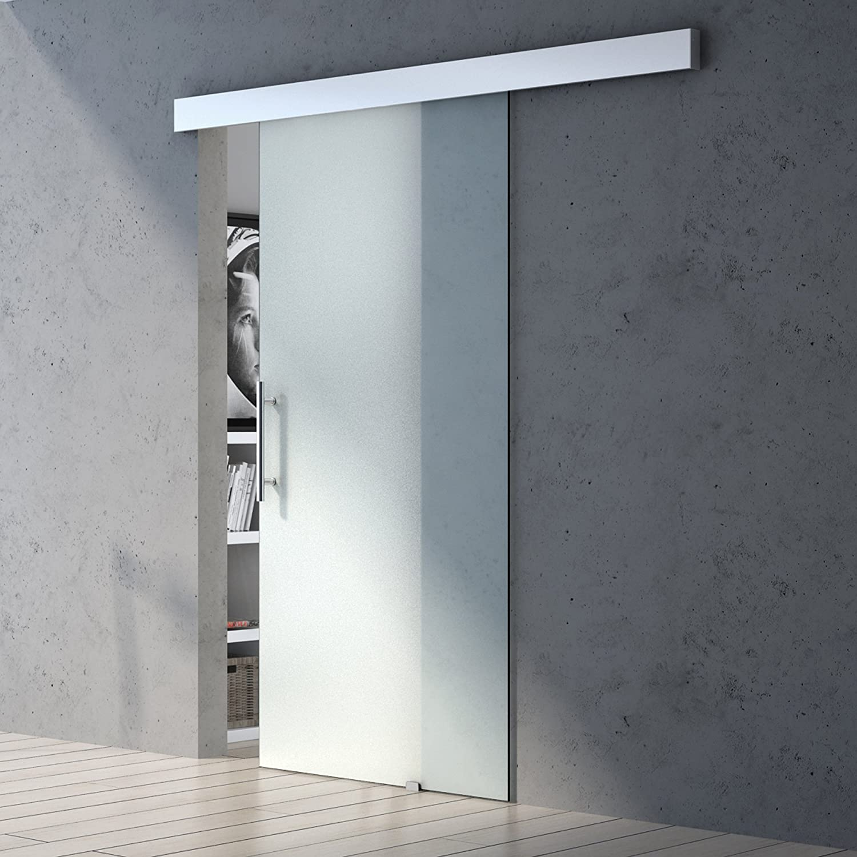 Glasschiebet/ür Amalfi TS15-1025 im Design SW BxH: 102,5x205cm Griffart: Muschelgriff ESG-Sicherheitsglas