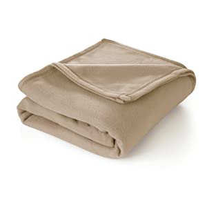 Martex Super Soft Fleece Blanket - Full/Queen, Warm, Lightweight, Pet-Friendly, Throw for Home Bed, Sofa & Dorm - Linen