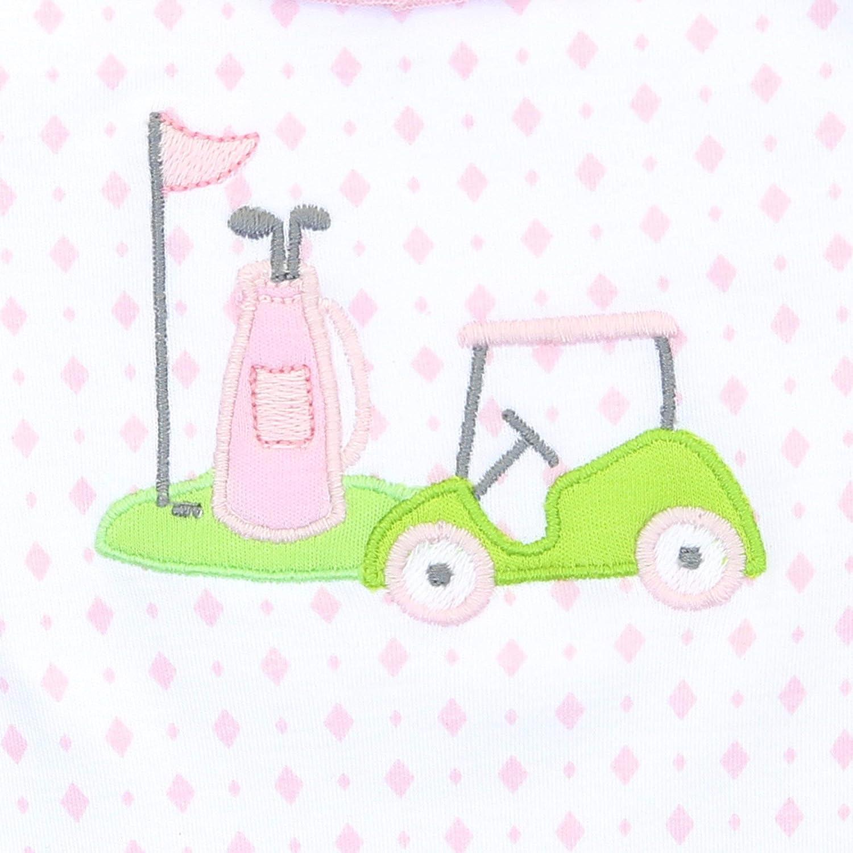 Magnolia Baby Baby Girl Putting Around Applique Short Pajama Pink
