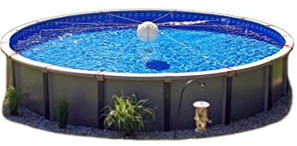PoolTree System - for 27\' and 28\' Round Pools - Above Ground Pool Winter  Cover Support SYSTEM ONLY - Cover Sold Separately (27/28\')