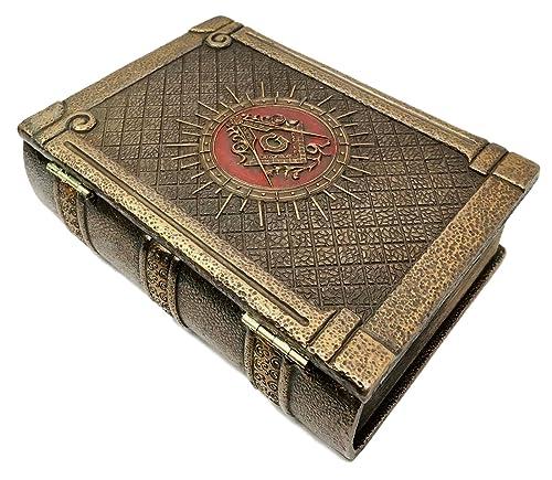 Amazon.com: Ebros - Caja de libros con bisagras y símbolo de ...