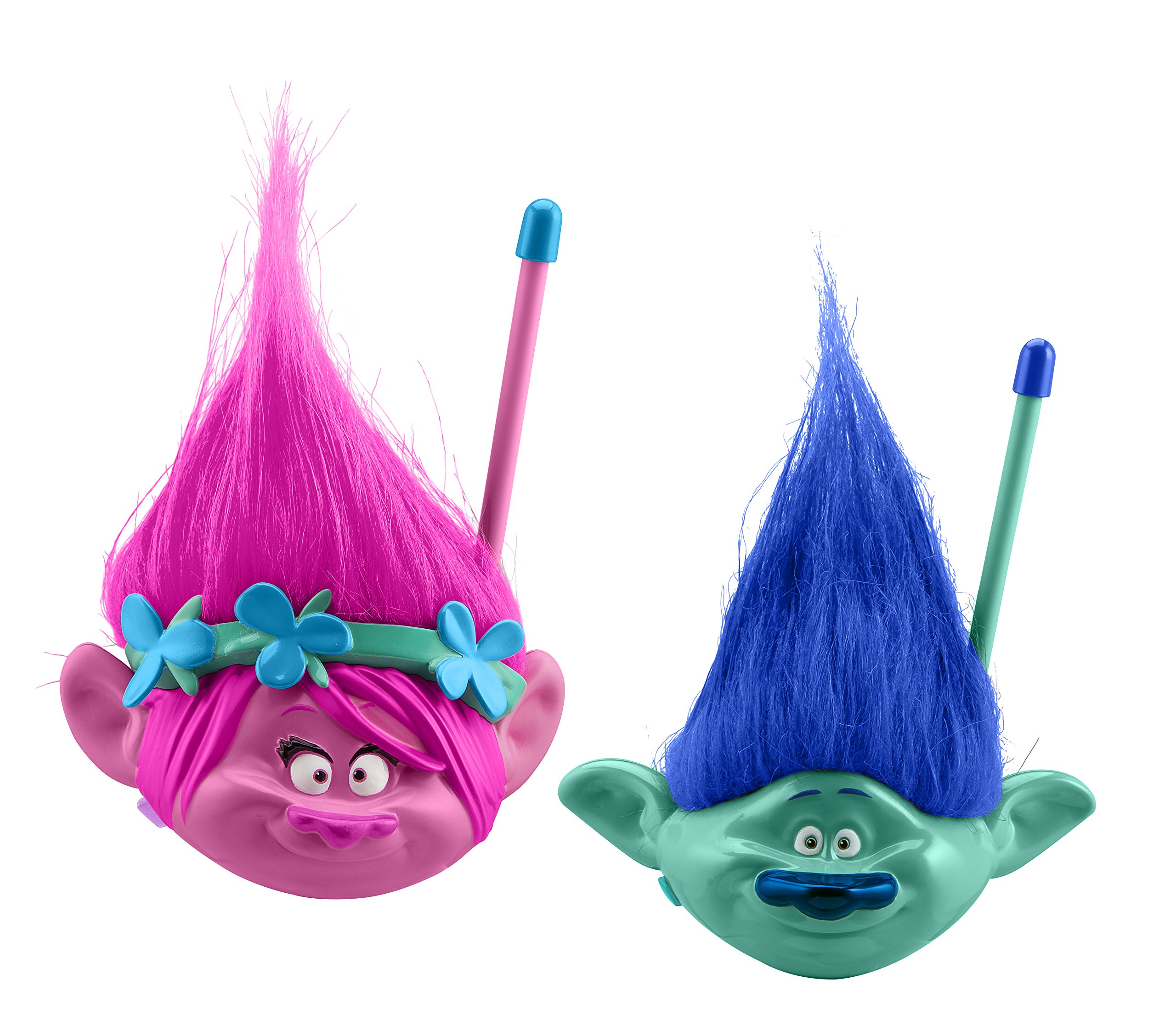 Trolls Walkie Talkies for Kids Static Free Extended Range Kid Friendly Easy to Use 2 Way Walkie Talkies