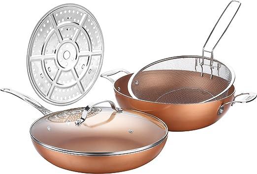 Amazon.com: Cooksmart - Juego de sartenes antiadherentes de ...