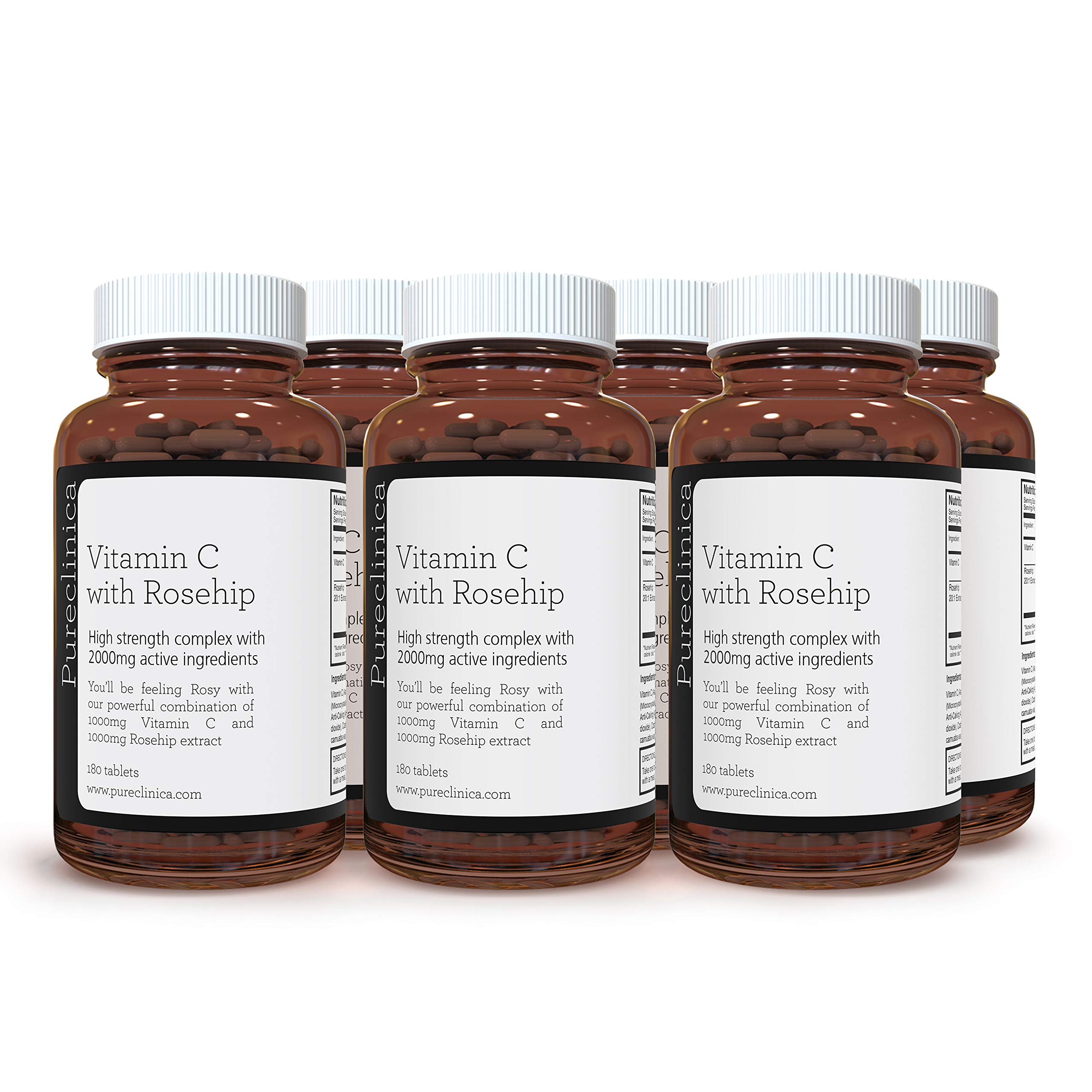 Vitamin C with Rosehip – 2000mg (1000mg VIT C & 1000mg Rosehip Extract) x 1080 Tablets – 3 Years Supply! SKU: ROSEC3x6