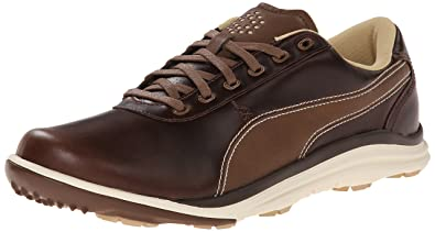 308497261f1686 PUMA Men's biodrive Leather Golf Shoe, Bison Brown/White Sw, ...