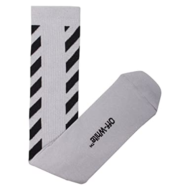 OFF-WHITE Mujer Owra003s174012229110silbl Gris Algodon Calcetines: Amazon.es: Ropa y accesorios