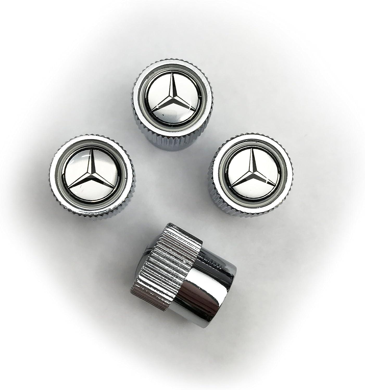 Set of Four Smart Car Logo Anti Theft Locking Valve Caps