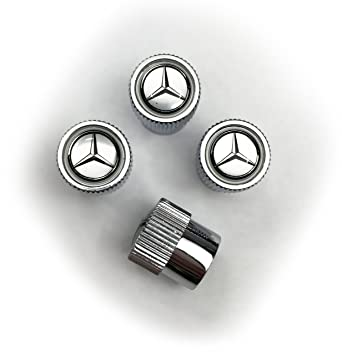 Amazon.com: Mercedes Benz Plata Logotipo Tire vástago de la ...