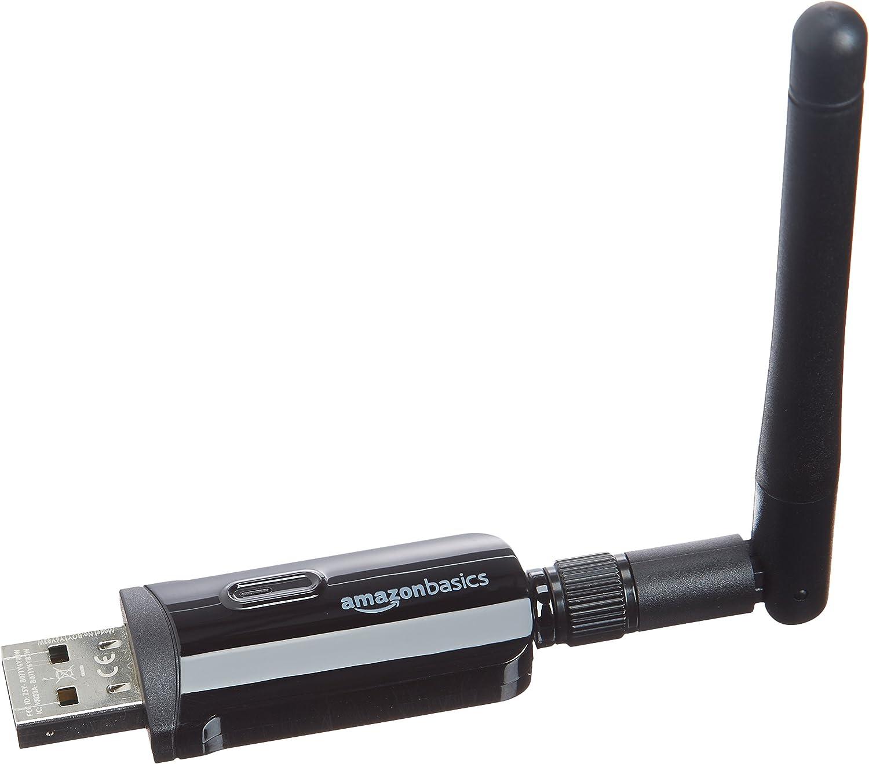 Amazon Basics - Adaptador USB Wi-Fi 11n, negro, 300 Mb/s