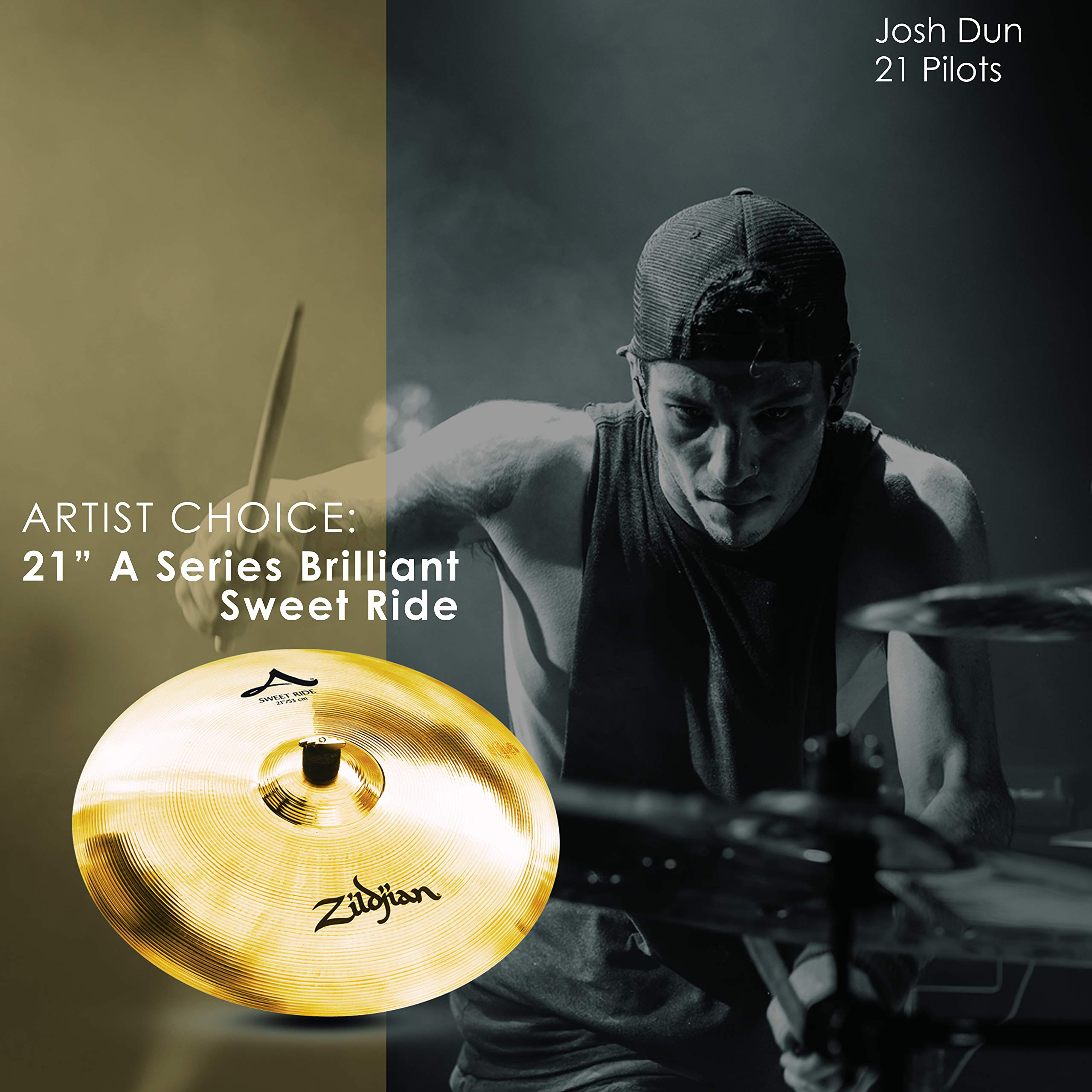 Zildjian A Series 21'' Sweet Ride Cymbal, Brilliant