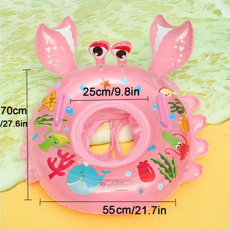 UClever Flotador Cangrejo con Manija para Bebé 6-36 Mes (Rosa): Amazon.es: Juguetes y juegos