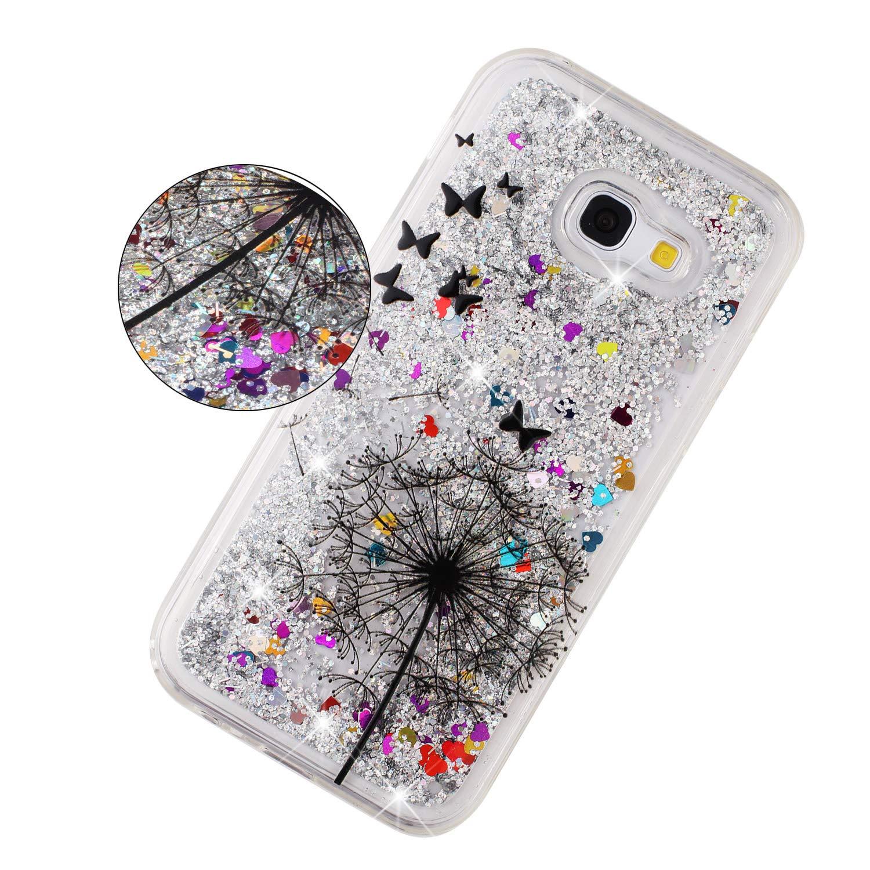 EuCase Funda para Samsung A5 2017,Carcasa Samsung A5 2017 Silicona Glitter L/íquido Quicksand Transparente Suave TPU Anti-ara/ñazos Sparkly Cute Cover Protecci/ón Bumper Case Cover Mandala