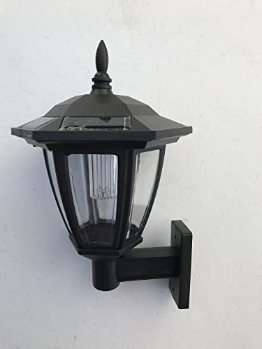 Solar Hexagon Wall Mount and Stakes Landscape Light with 6 Bright SMD White Color LED