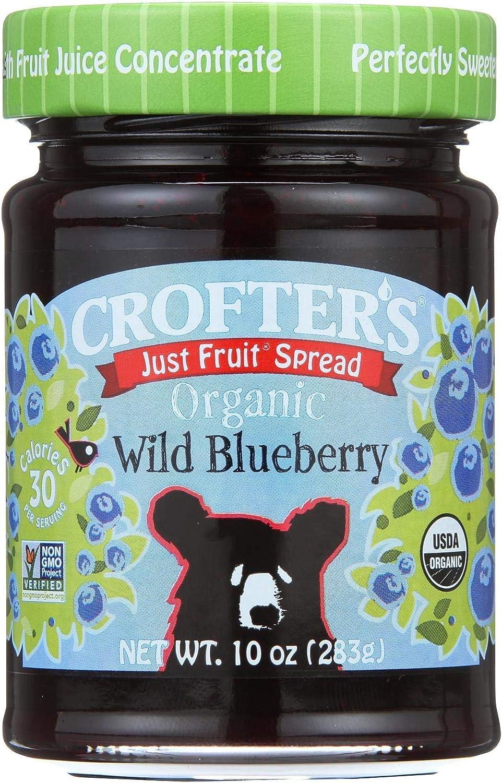 Crofters Organic Wild Blueberry Fruit Spread, 10 Ounce - 6 per case.