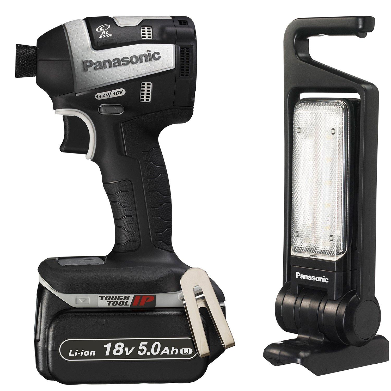 パナソニック(Panasonic) 充電インパクトドライバーLEDマルチ投光器セット18V5.0Ah グレー限定品 EZ75A7LJ2GTH B0763PLX3L グレーライト付き限定 グレーライト付き限定