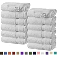12-Pack Chakir Turkish Linens Turkish Cotton Luxury Hotel & Spa Bath Towel