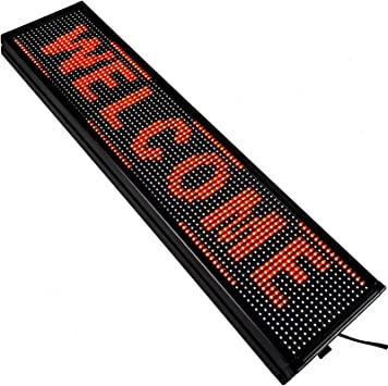 Led Sign Led Scrolling Sign 40 x 8 inch Red Advertising Smd Technology Flashing