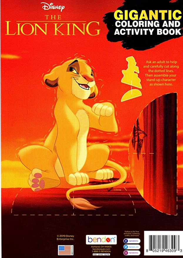 Amazon.com: Disney - The Lion King - Gigantic Coloring & Activity Book -  200 Pages: Toys & Games