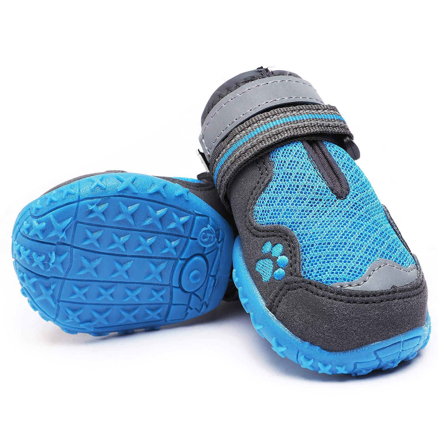 HiPaw Breathable Dog Boots Nonslip Rubber Sole for Hot Pavement Summer Paw Protector for Large Medium Dog by HiPaw