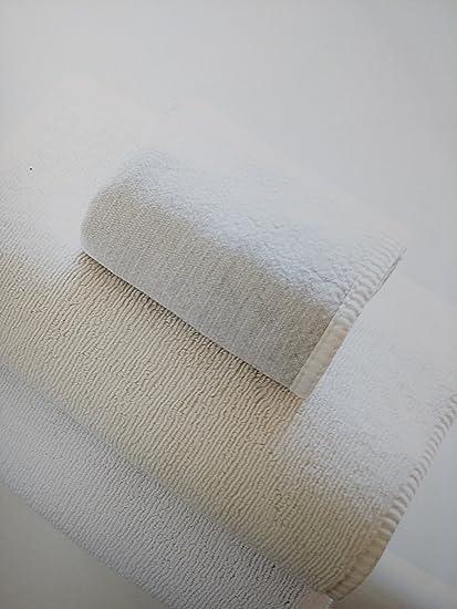 Toalla de baño (lino, Bio bambú y algodón Esponja una Face Ecru una cara