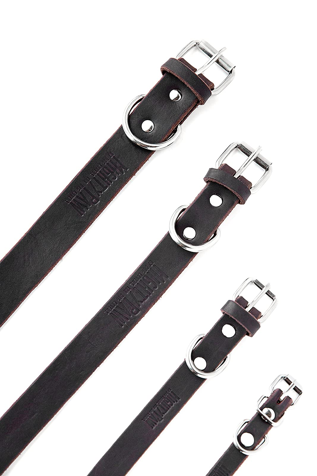 Mighty Paw Leather Dog Collar Super Soft Brown - 5