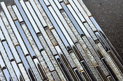 Piastrelle di vetro mosaico cm piano nero beige mix