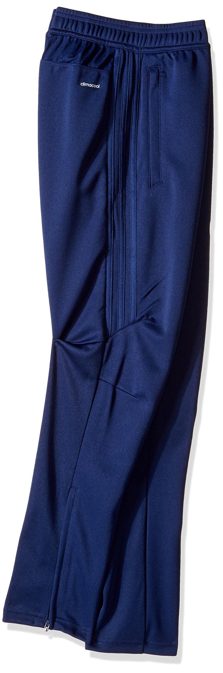 adidas Youth Soccer Tiro 17 Pants, Small - Dark Blue/White by adidas (Image #2)