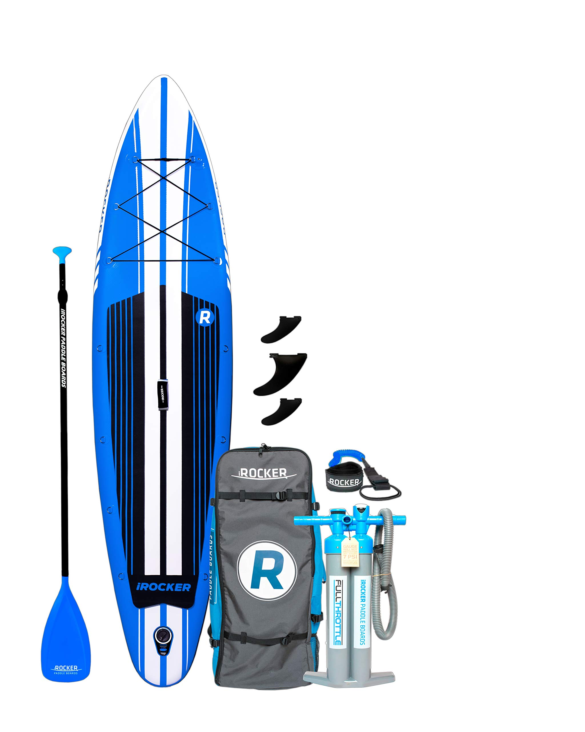 iROCKER Inflatable Sport Stand Up Paddle Board 11' Long 31'' Wide 6'' Thick SUP Package (2019)