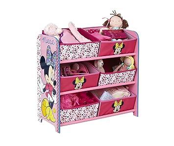 Minnie Mouse - Regal zur Spielzeugaufbewahrung mit sechs Kisten für ...