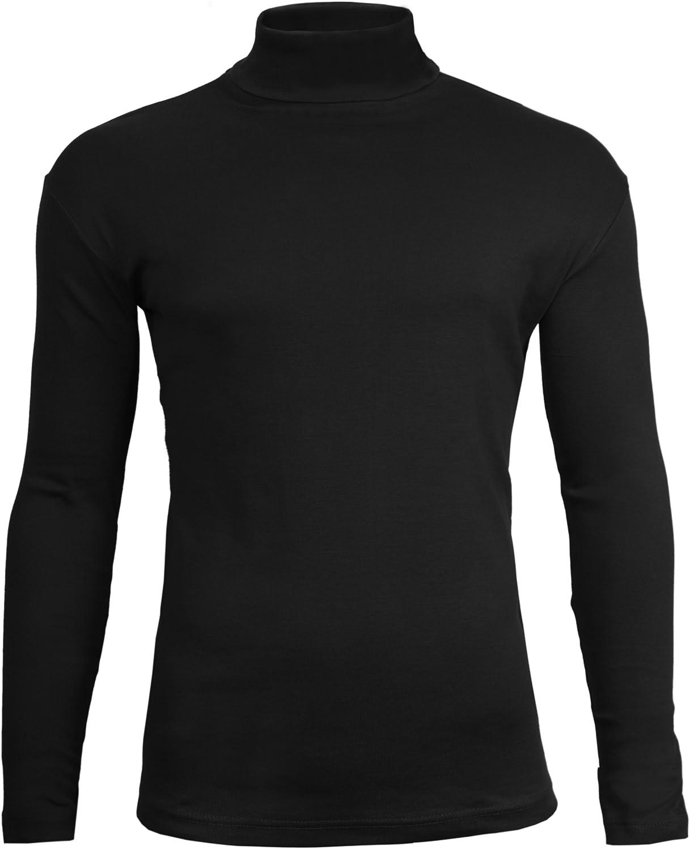 Para hombre rollo de cuello Polo cuello Tops exclusivamente By Brody y Co. Plain invierno esquí Golf calidad elástico Jersey Algodón