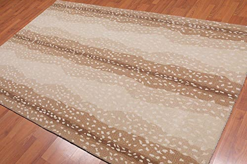 Old Hand Made Cheetah Antelope Contemporary Woolen Area Rugs 8 x10