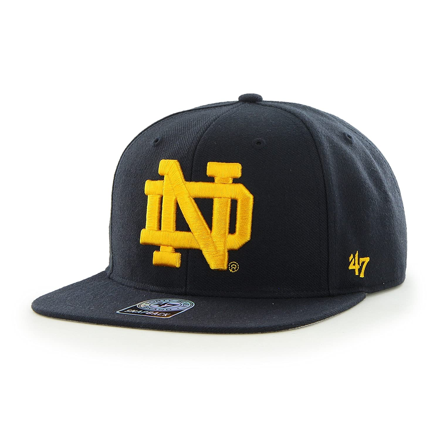 8b435977b18 Amazon.com    47 NCAA Notre Dame Fighting Irish Sure Shot Captain  Adjustable Snapback Hat