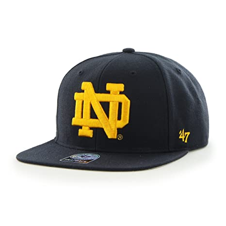 39f25b2f4aeaf Image Unavailable. Image not available for. Color   47 NCAA Notre Dame  Fighting Irish Sure Shot Captain Adjustable Snapback Hat ...