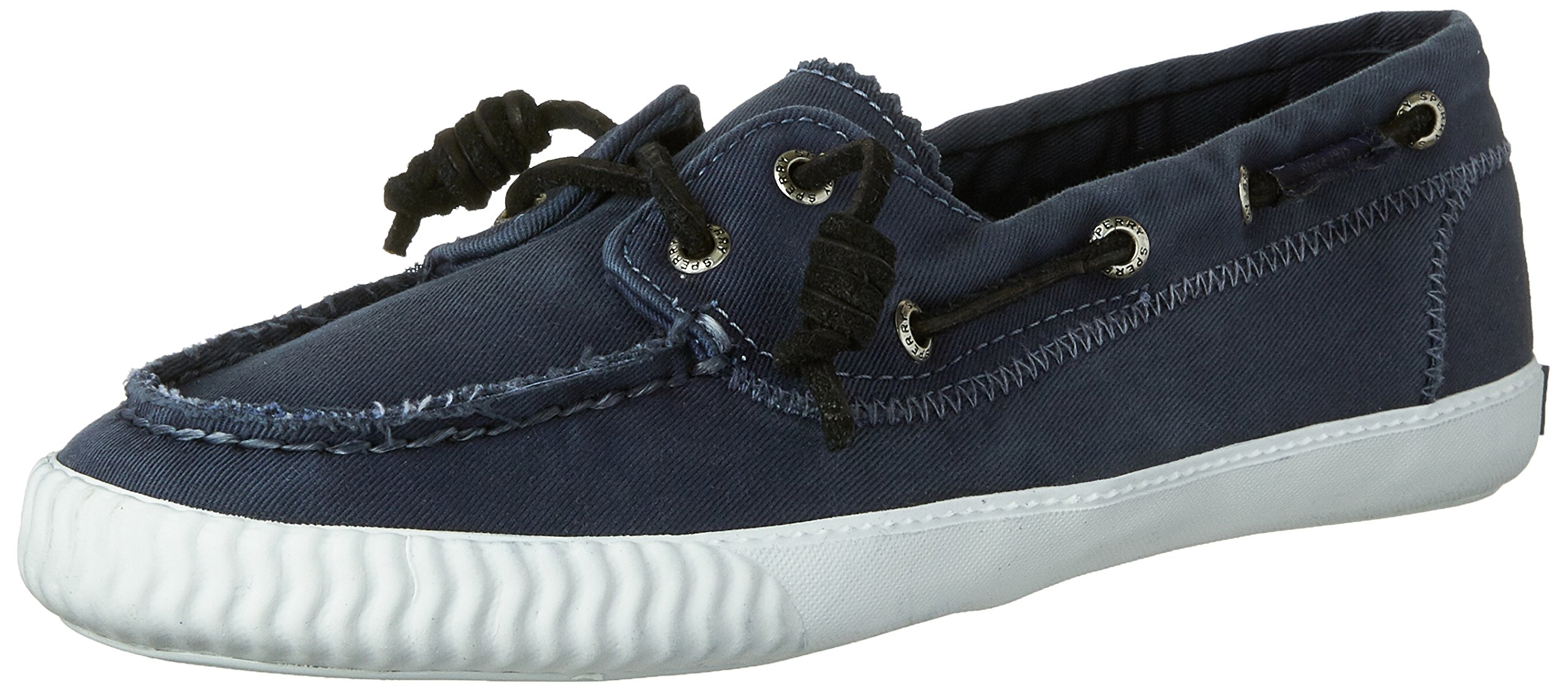 Sperry Top-Sider Women's Sayel Away Washed Navy Boat Shoe 9 M (B)