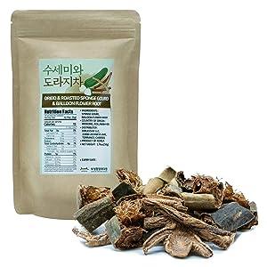 Luffa Gourd and Bellflower Tea [ Korea Foods ] Natural Superfood, Soothing and Rich Korean Tea Drink, High in Fiber [JRND Foods ] 1.76 oz